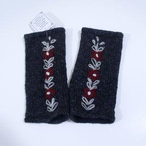 Knit Wool Fingerless Texting Gloves Nepal